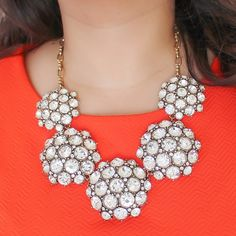 Image of Chunky Crystal Dome Necklace from vivalajewels.com enter code robinhills at checkout so they know who referred you!