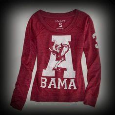 アメリカンイーグル レディース Tシャツ American Eagle ALABAMA VINTAGE LONG SLEEVE Tシャツ-アバクロ 通販 ショップ-【 #ITShop