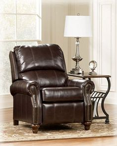 #donations The #Birsh low leg recliner is covered in rich DuraBlend upholstery around the seating areas and faux leather covering everywhere else With the decora...