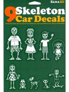 """""""Skeleton"""" Car Decals #inkedshop #skeleton #skeletondecals #family #sugarskull #dog #cat #son #daughter"""