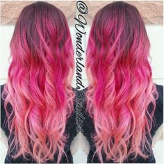coral ombre hair - Google Search
