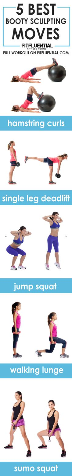 Ready to tighten up that booty? These 5 moves target the hamstrings and glutes for a toned backside. Follow the instructions for a complete glute workout!