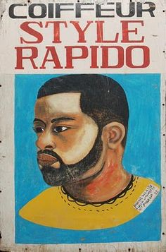 Coiffeur Style Rapido  African Barber Sign
