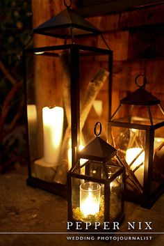Rustic Utah wedding lanterns at Log Haven Published by Rustic Wedding Chic Photo by Pepper Nix
