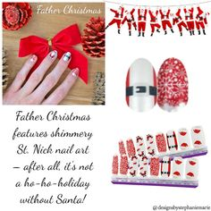 Father Christmas Christmas Games, Father Christmas, Green Christmas, Christmas Colors, Fail Nails, Street Game, Color Street Nails, Holiday Nails, Manicure