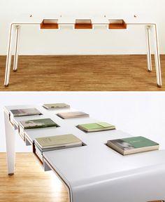 genius! Library table.