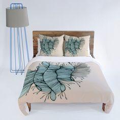 Gabi Birds Of A Feather 1 Duvet Cover #feather #blue #bedding #bedroom