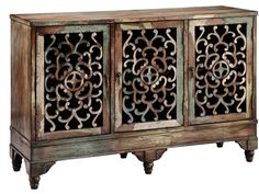 Shop for Stein World Ruskin Cabinet, 12524, and other Living Room Cabinets at Stein World in Memphis, TN. This rustic three-door cabinet has an authentic antique feel. Perfect for extra storage or as an entertainment console, it's constructed of birch veneers.