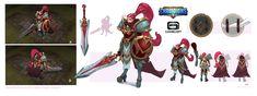 ArtStation - Mercenary-Syrann-concept for Dungeon Hunter Champions , Xuexiang Zhang