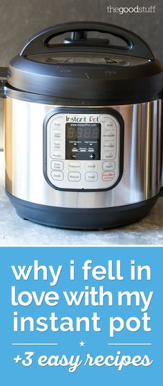 This machine is everything from a pressure cooker to a steamer, slow cooker, and yogurt maker.