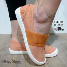 👌These are fantastic shoes for wearing around the house or popping out to the shops. Made with leather they're soft, flexible & lightweight. 🚚 Order now with FREE UK Delivery! Get them here 👉 www.beggshoes.com/softinos-ino-P900497-011  #softinos #leathershoes #comfortshoes #shoesoftheday #casualshoes #orange #orangeshoes