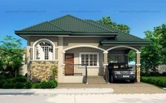 Atienza One Story Budget Home Shd 20115022 Pinoy Eplans Philippines House Design Simple House Exterior Simple House Exterior Design