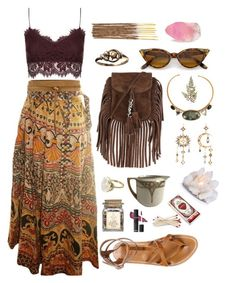 """hippie outfits 767582330213485265 – """"earth tones"""" by ❤ liked o… - hippie style 70s Inspired Fashion, 70s Fashion, Look Fashion, Hippie Fashion, Witch Fashion, Fashion Black, Fashion Fashion, Fashion Tips, Fashion Trends"""