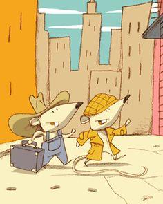 Autrefois le Rat de ville invita le Rat des champs…