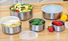 Groupon - $ 7.99 for a Five-Piece Stainless-Steel Bowl Set with Plastic Lids ($ 29.97 List Price). Free Returns.. Groupon deal price: $7.99