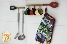 É bom dizer logo: esse passo-a-passo é pra você que quer organizar a cozinha sem gastar muito e, ainda por cima, de um jeito fácil e rápido. Com poucos materiais, você consegue fazer um suporte para utensílios que não precisa nem furar a parede (al...