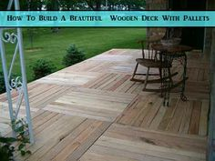 How To Build A Beautiful Wooden Deck With Pallets - LivingGreenAndFrugally.com