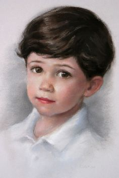 pastel portrait---------What beautiful little boy. I know he isn't beautiful but…