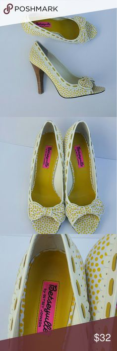 Betsey Johnson Yellow Polka Dot Heels Betseyville By Betsey Johnson Yellow Polka Dot Heels Pin Up Rockabilly Size 8M  New without the box.  Thank you for Shopping!   Be sure to add me to your favorites list!   Check out my other items! Betsey Johnson Shoes Heels