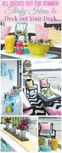 Kaila's Place| Thrifty ideas to deck out your deck this summer