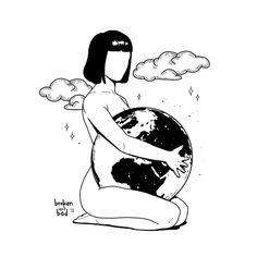 The whole of planet Earth is a sacred site. All people are the chosen people, and the purpose of our lives is a spiritual one. Planet Drawing, Earth Drawings, Pencil Art Drawings, Art Drawings Sketches, Art Du Croquis, Dope Art, Art Sketchbook, Aesthetic Art, Art Inspo