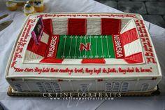 Grooms Memorial Stadium cake from our wedding!  Nebraska Husker football