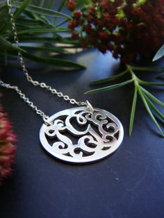 Sterling Silver Personalized Monogram Pendant by sprout1world, $55.00