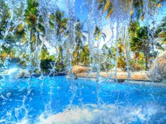 What do you think of Palm Island's waterfall #pool?