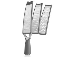 $14.99 3/26/2012 Only. Art and Cook Long Grater with 3 Interchangeable Stainless Steel Blades, Bi-Directional Grating & Zinc Finish