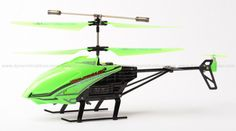 The Nano Hercules, by World Tech Toys, is unbreakable. This small RC helicopter's body can take up to 200 pounds of force. You can even step on it, and it won't break. This one is glow-in-the-dark.