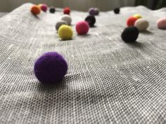 Items similar to tuliManna Gray Linen Pillow Case Inch With Colourful Felt Balls Pink White Black Orange Violet Yellow Red on Etsy Red Peach, Pink Yellow, Pink White, Grey Roses, Pink Roses, Bubble Wrap Envelopes, White Pumpkins, Felt Ball, Linen Pillows