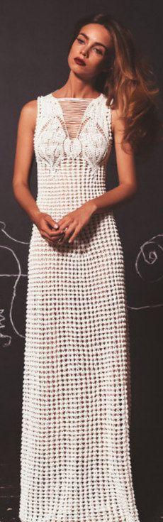 Helen Rödel long white crochet dress