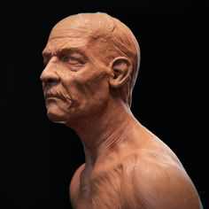 Old Man Sculpture Sketch, yin shiuan on ArtStation at https://www.artstation.com/artwork/5exKg