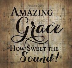 """Amazing Grace Pine Pallet Sign 10.5x10"""""""