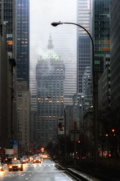 NYC. Park Avenue at dawn.