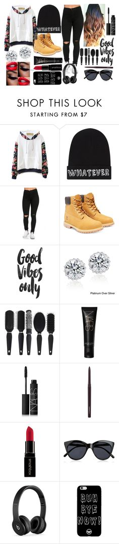 """Whatever."" by mint-green-lover ❤ liked on Polyvore featuring Local Heroes, Timberland, Icz Stonez, NARS Cosmetics, MAC Cosmetics, Smashbox, Le Specs and Beats by Dr. Dre"