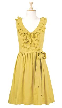 pretty yellow dress (and a website with lots of affordable dress options in different styles and colors)