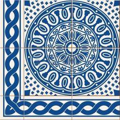 azulejo seamless blanc magnifique carreaux portugais. Black Bedroom Furniture Sets. Home Design Ideas