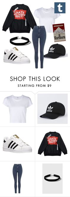 """""""Site Model  #tumblr"""" by zainpassed on Polyvore featuring moda, RE/DONE, adidas, Chicnova Fashion e Topshop"""
