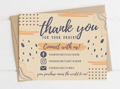 Cute Thank You Cards, Printable Thank You Cards, Thank You Card Template, Card Templates, Thank You Notes, Id Card Design, Thank You Card Design, Design Design, Small Business Cards
