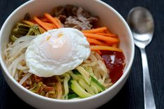 bibimbap. done in about an hour