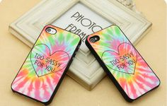 Too sassy For tie dye  FIT for iP4iP5 Samsung by CasebyMarsha, $14.00