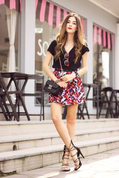 printed skirt <3