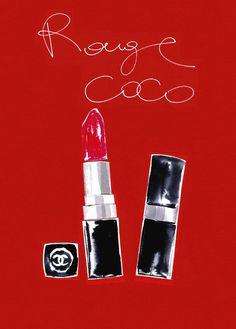 """ Rouge Coco by Chane l""   by  Koenelia  Debosz"