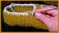 Arkimamman Arkiralli: Huovutetut virkatut tossut OHJE Knitted Hats, Diy Crafts, Knitting, Tricot, Make Your Own, Breien, Stricken, Homemade, Weaving