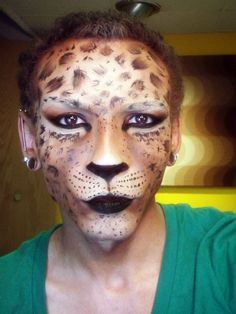 My favorite part about this one is it's literally just make-up. Nothing physically on his face to make the leopard's cheeks at all. Just depth perception! :) Watch the video on youtube! Petrilude - Leopard