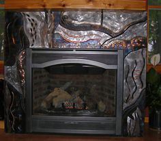 OPIEuroCentrale AWomansPragueative Copper fireplace surround with