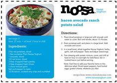 RECIPE: Bacon Avocado Ranch Potato Salad featuring Plain Noosa Yoghurt