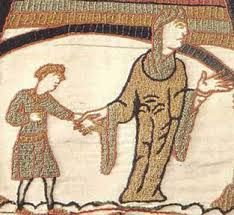Here is a woman from the 12th Century wearing a tunic with sleeves that are longer showing status by the extra fabric