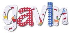 Baby Boats Hand Painted Wall Letters